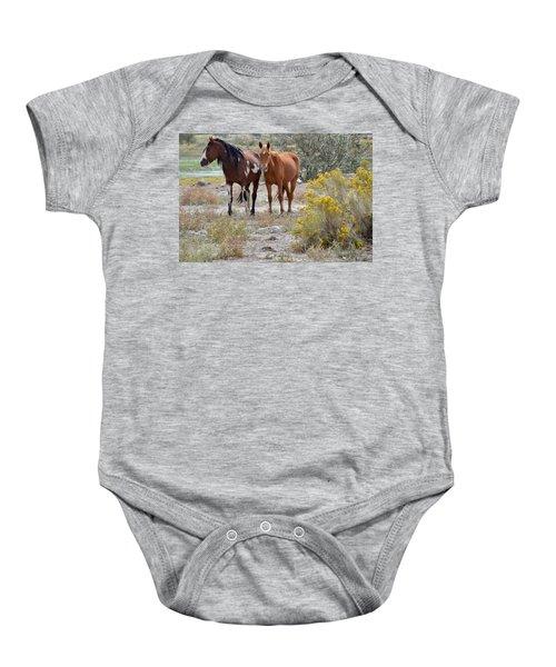 Stallion And Mare Baby Onesie