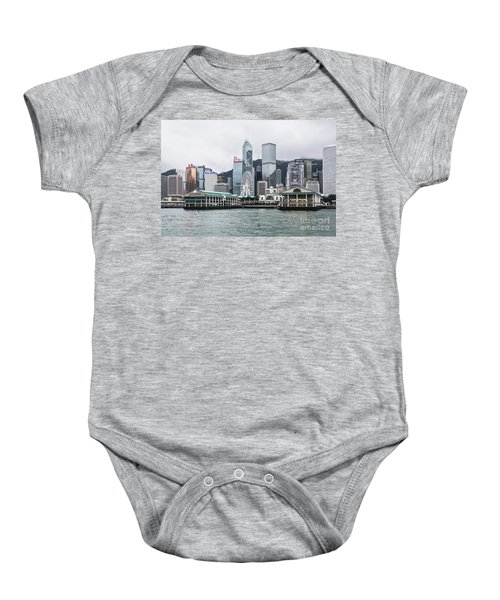 Star Ferry Building Terminal In The Central Business District Of Baby Onesie