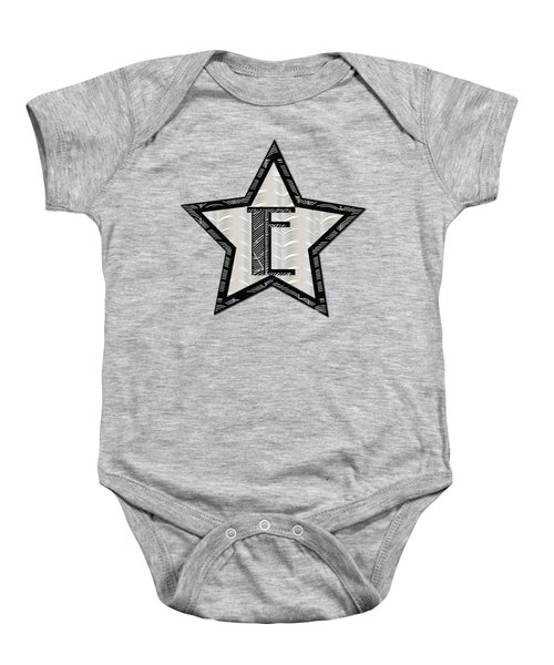 Star Of The Show Art Deco Style Letter E	 Baby Onesie