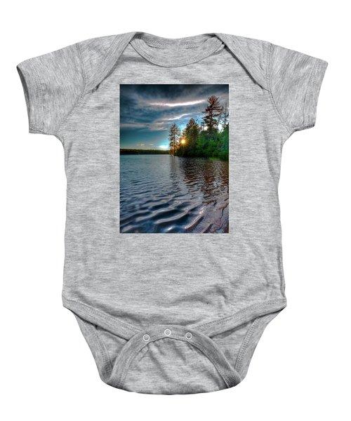 Star Sunset On Nicks Lake Baby Onesie