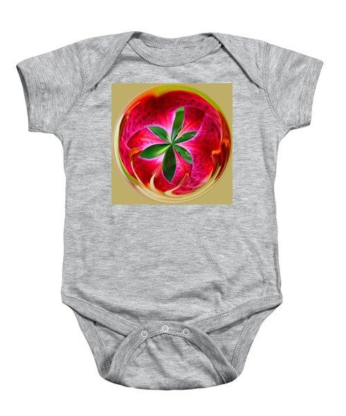 Stargazer Lily Orb Baby Onesie