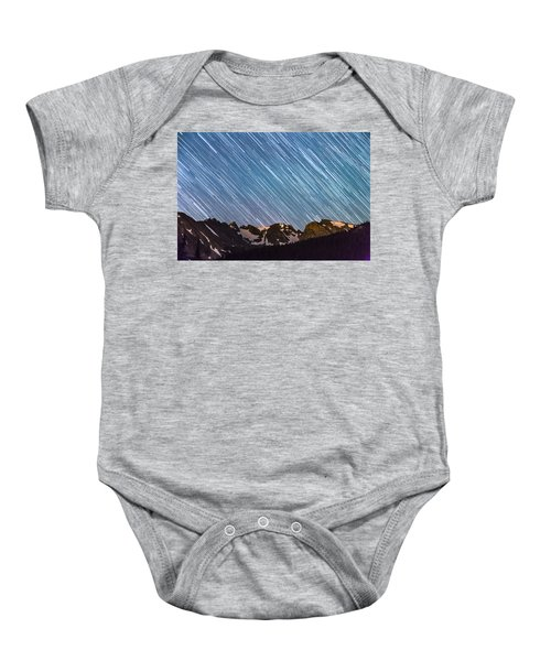 Stars Raining Down On The Colorado Indian Peaks Baby Onesie