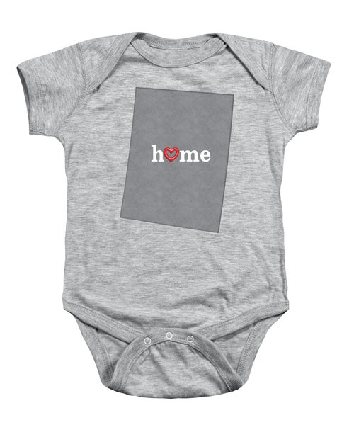 State Map Outline Colorado With Heart In Home Baby Onesie