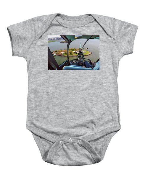 Statue Of Liberty Helicopter Baby Onesie