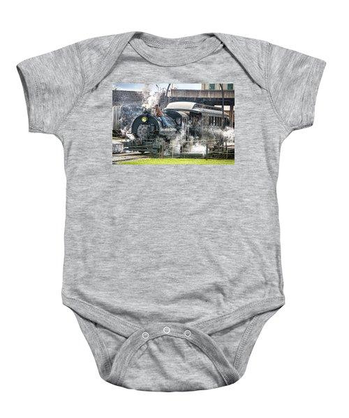 Steam Engine #30 Baby Onesie