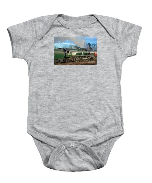 Steam Locomotive Elegance Baby Onesie
