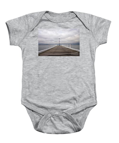 Baby Onesie featuring the photograph Steampacket Quay by Linda Lees