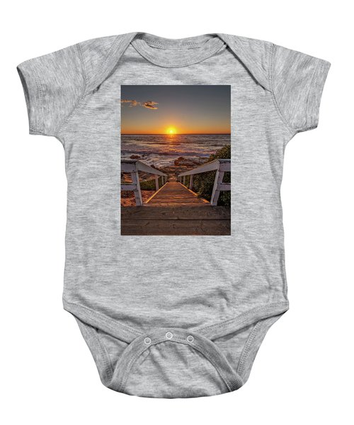 Steps To The Sun  Baby Onesie