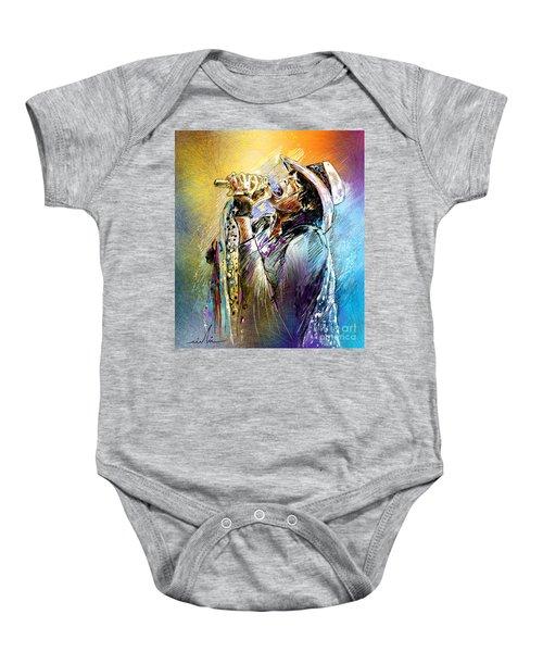 Steven Tyler 01  Aerosmith Baby Onesie
