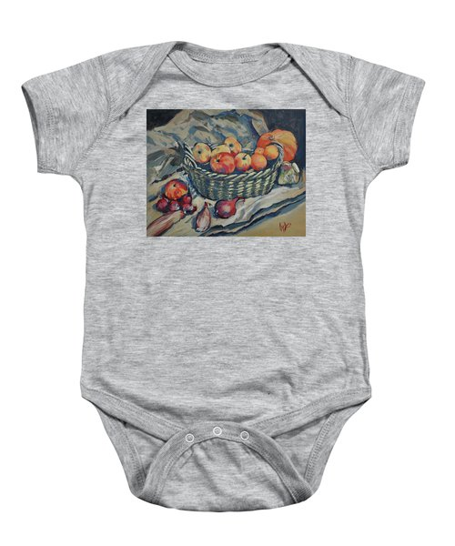 Still Life With Fruit And Vegetables Baby Onesie