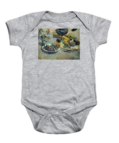 Still Life With Fruit Baby Onesie by Paul Gauguin