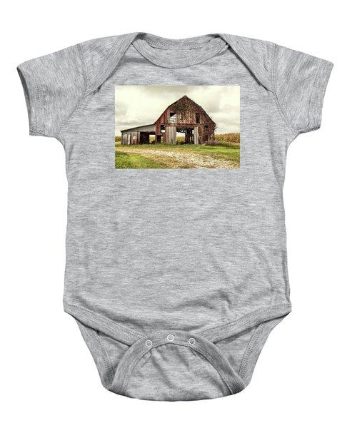 Still Standing Ohio Barn  Baby Onesie