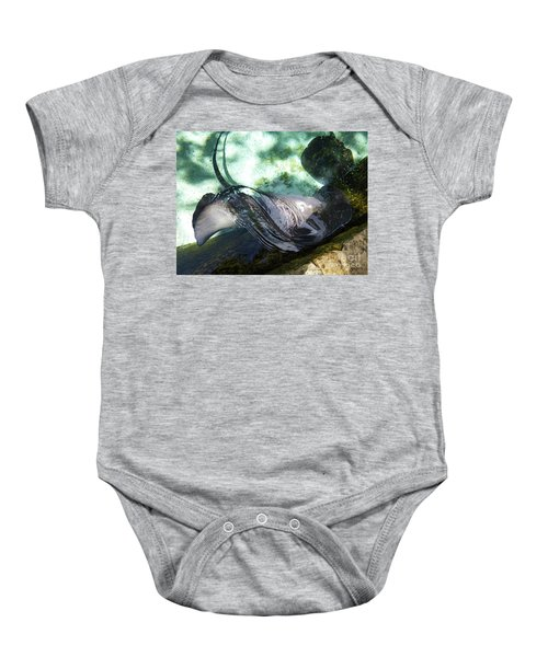 Baby Onesie featuring the photograph Stingray Wave by Francesca Mackenney