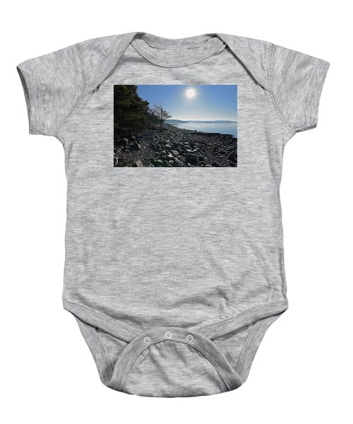 Stone Beach Baby Onesie