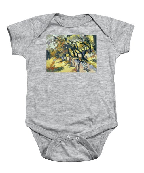 Stone Wall Olive Grove Terrace Baby Onesie