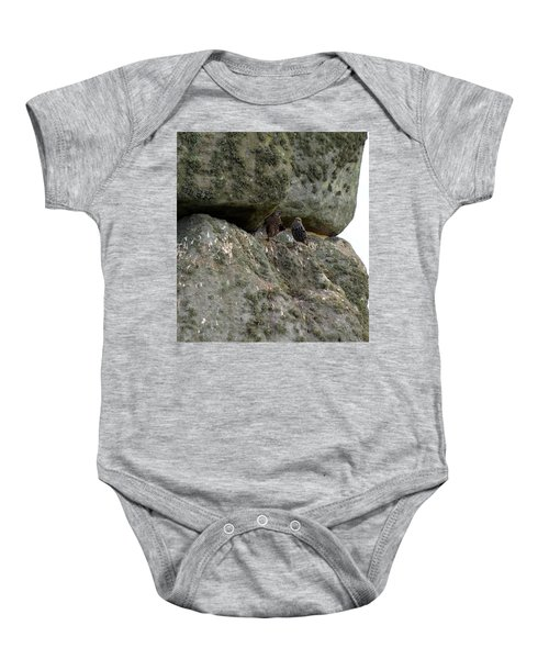 Baby Onesie featuring the photograph Stonehenge Birds by Francesca Mackenney