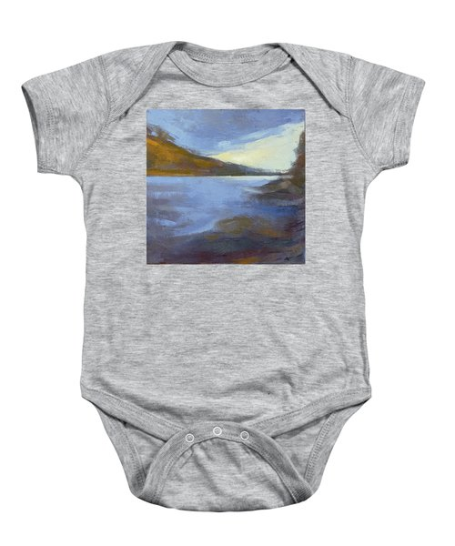 Storm Clouds Break Over The River Gorge Baby Onesie