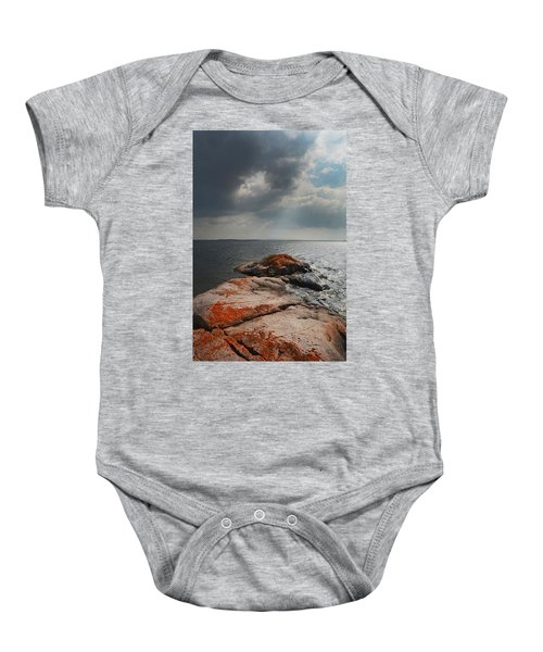 Storm Clouds Over Wall Island Baby Onesie