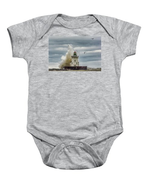 Storm On Lake Erie Baby Onesie