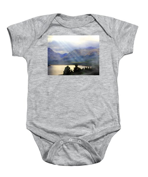 Storms A Coming-lower Two Medicine Lake Baby Onesie