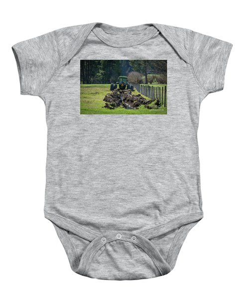 Stuck In The Muck Agriculture Art By Kaylyn Franks Baby Onesie