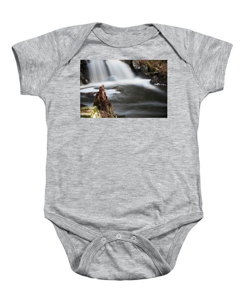 Stumped At The Secret Waterfall Baby Onesie