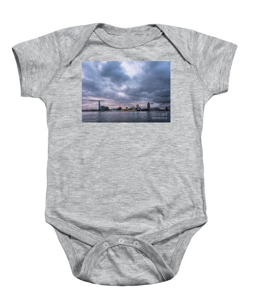 Stunning Sunset Over Kowloon In Hong Kong Baby Onesie