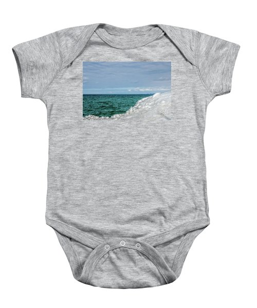 Stunning Turquoise, Green, And Blue Baby Onesie