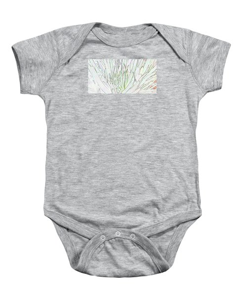 Succulent Leaves In High Key Baby Onesie by Nareeta Martin