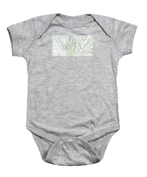 Succulent Leaves In High Key Baby Onesie