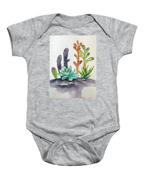 Succulents Desert Baby Onesie