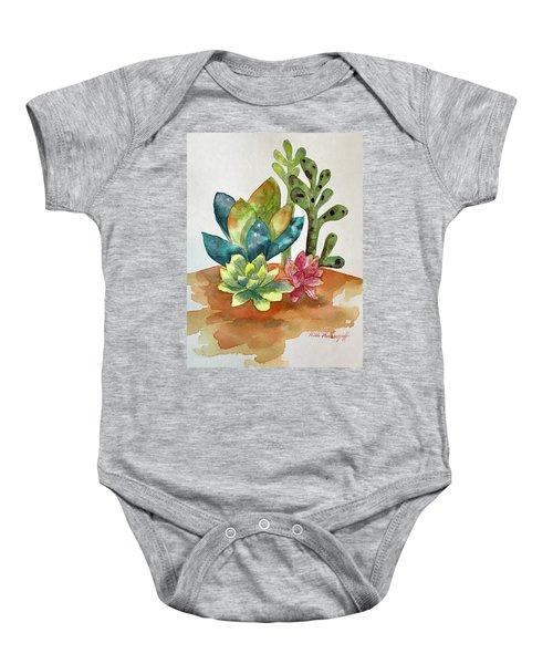Succulents Baby Onesie