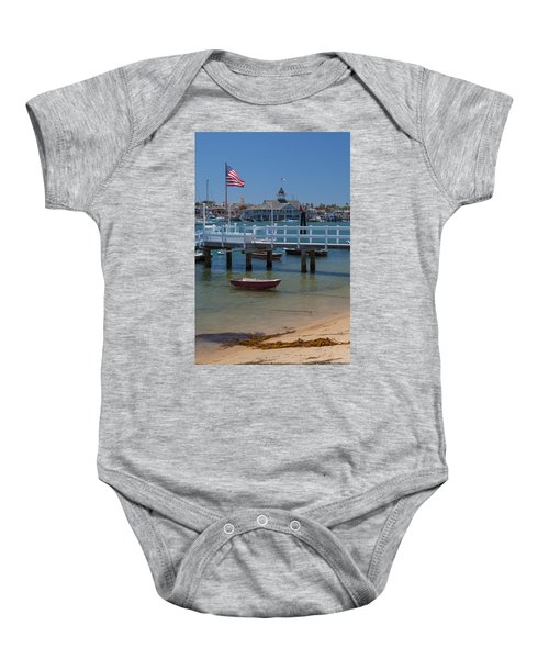 Summertime In  Newport Beach Harbor Baby Onesie