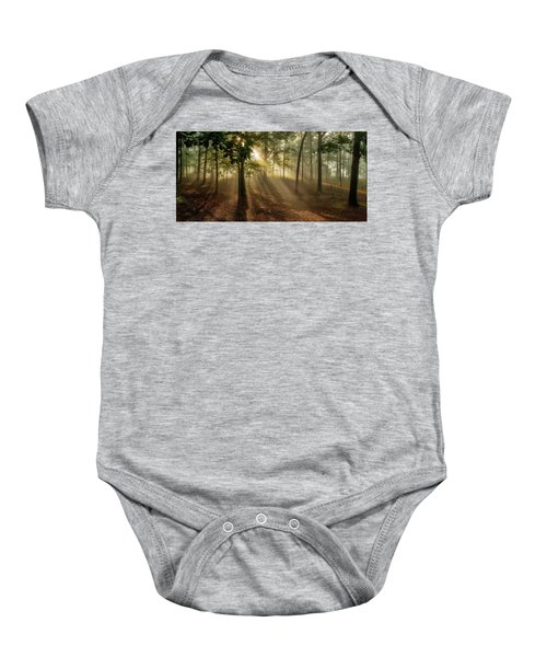 Sun And Clouds Baby Onesie