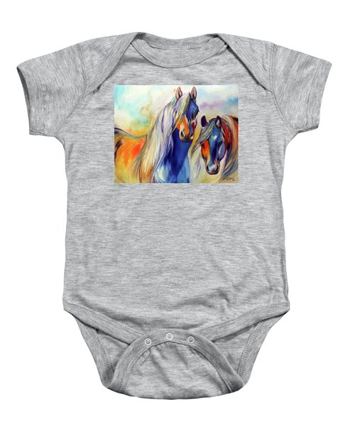 Sun And Shadow Equine Abstract Baby Onesie