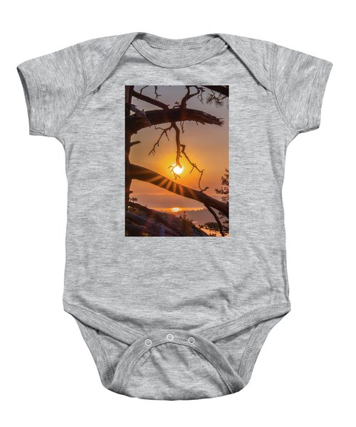 Sun Ornament - Cropped Baby Onesie