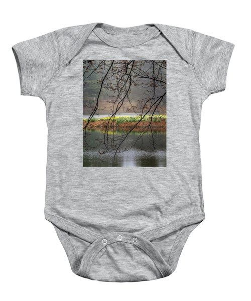 Baby Onesie featuring the photograph Sun Shower by Bill Wakeley