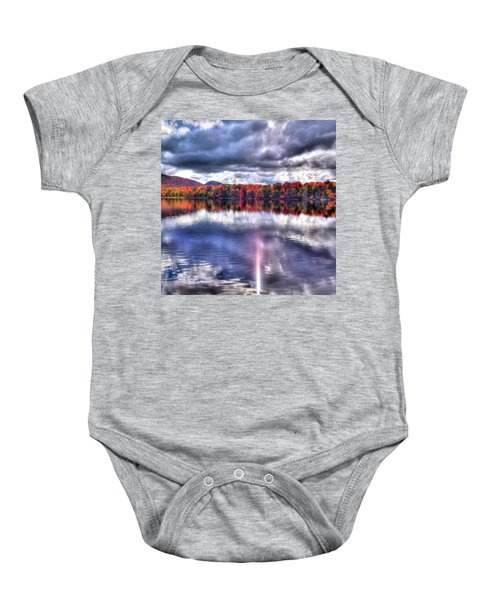 Baby Onesie featuring the photograph Sun Streaks On West Lake by David Patterson