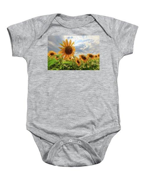 Sunflower Star Baby Onesie