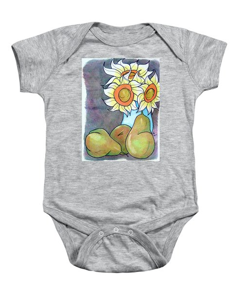 Sunflowers And Pears Baby Onesie