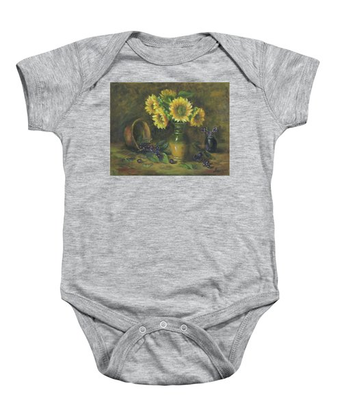 Sunflowers Baby Onesie