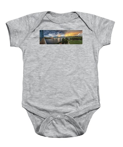 Sunlight And Showers Over Chattanooga Baby Onesie