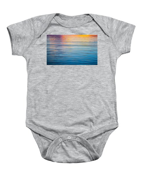 Sunrise Abstract On Calm Waters Baby Onesie