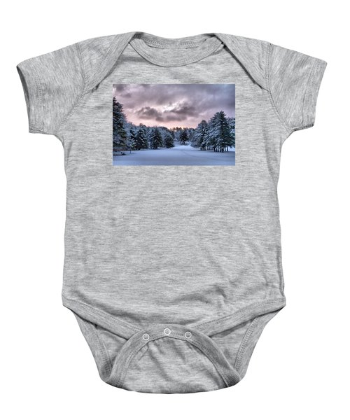 Sunrise After The Snow  Baby Onesie