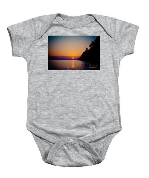 Sunrise And Seascape Baby Onesie