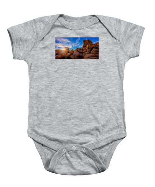 Baby Onesie featuring the photograph Sunrise At Skull Rock by Rikk Flohr