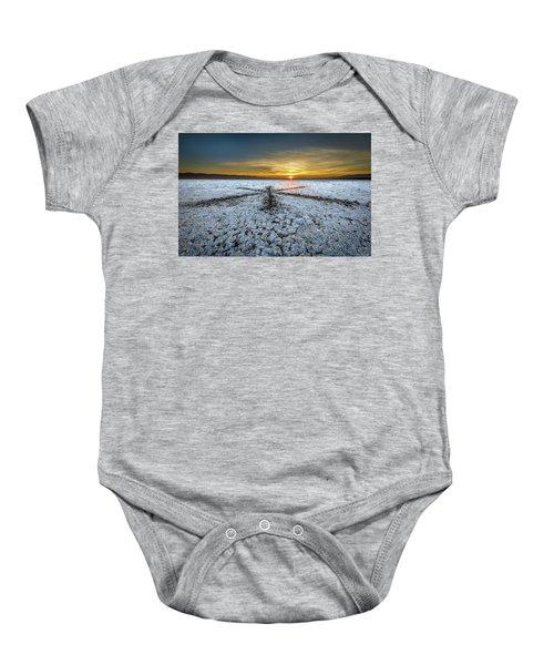Sunrise At Soda Lake Baby Onesie