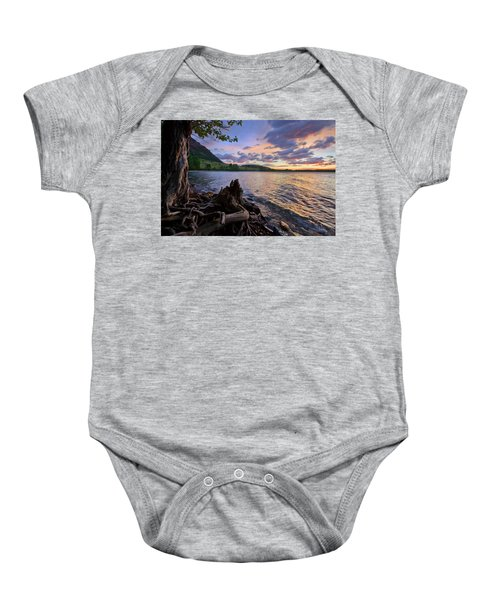 Sunrise At Waterton Lakes Baby Onesie