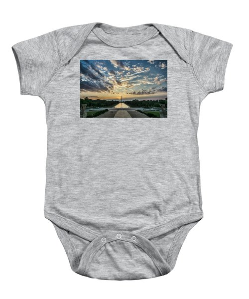 Sunrise From The Steps Of The Lincoln Memorial In Washington, Dc  Baby Onesie