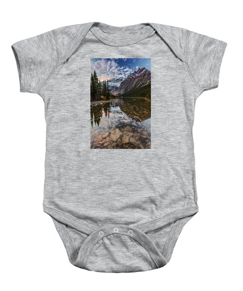 Sunrise In The Rocky Mountains Baby Onesie